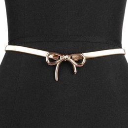 Wholesale clothes for skinny ladies resale online - 1 Elegant Women Bow Clasp Front Stretch Belts Dress Accessory Strap Skinny Elastic For Lady Clothing Belts