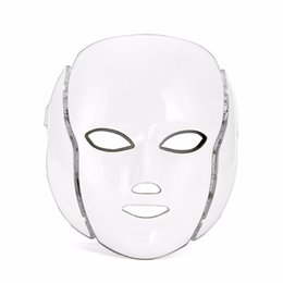 China LED Facial Mask 7 Color LED Mask With Micro-current Multifunctional Facial Mask Beauty Device Colourful Masks Free shipping supplier micro current devices suppliers