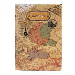 $enCountryForm.capitalKeyWord Australia - New Pvc Flat Printing World Trip Map Passport Covers Holder Travel Card Case Document Passport Cover 14*10cm