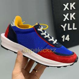 $enCountryForm.capitalKeyWord Australia - Kids Children Sacai LDV Waffle Blue Running Shoes Baby Boy Girl Parent Child Fashion Designer LDWaffle Green Yellow Casual Shoe Eur28-35