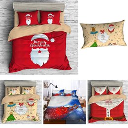 Santa Claus Queen Size Bedding NZ - Christmas Bedding Sets 3D Cartoon Bedclothes Queen Twin King Size Kids comforter sets Duvet Cover Pillowcases Santa Claus Xmas Decor Gifts
