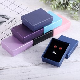 $enCountryForm.capitalKeyWord Australia - Cardboard Jewelry Box 7x9cm Necklace Earrings Bracelets Boxes Big Paper Gift Packaging with Black Sponge Can Personalized logo