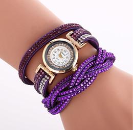 Elements Battery NZ - Two - color twist wrap bracelet watch fashion elements explosions Lady Shi Ying movement diamond bracelet watch