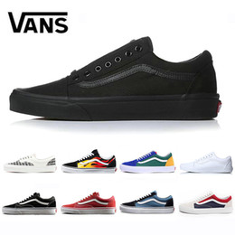 7598a3b1c7 Original Brand Vans old skool fear of god men women canvas sneakers black  white YACHT CLUB red blue fashion skate casual shoes