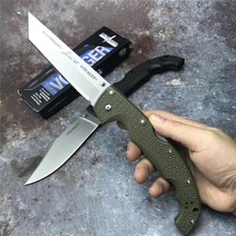 Cold Steel Voyager Australia - New-Cold Steel Dogleg Back Lock Knife XL-SIZE VOYAGER Series Origami Practical Survival Knife Hunting Tactics Outdoor Camping Tools