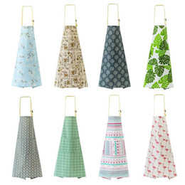 $enCountryForm.capitalKeyWord Australia - Adjustable Cotton Aprons with Pocket Kitchen Apron Women Men Apron for Restaurant Chef Cooking Baking Household Cleaning Tools