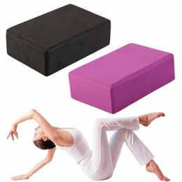 Foam Block Wholesale Australia - 2019 New Yoga Block Exercise Fitness Sport Yoga Props Foam Brick Stretching Aid Gym Pilates