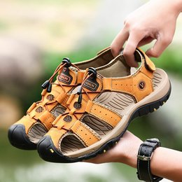 $enCountryForm.capitalKeyWord Australia - Classic Men Soft Sandals Comfortable Men Summer Shoes Leather Sandals Big Size Soft Roman Comfortable Summer