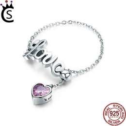 c12ba7f48 925 Sterling Silver Ring fit Pandora Jewelry fox can adjust ring Radiant  Heart AIR Enamel Synthetic Spinel Women Ring Silver Jewelry love w