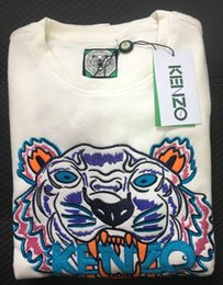 Wholesale cotton jumper suit resale online - Embroidery tiger head sweater man woman long sleeve O neck pullover Hoodies Sweatshirts jumper track suits S XXL