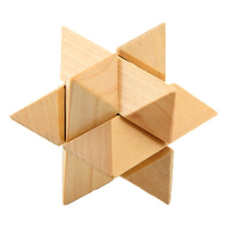 3d wooden cube NZ - 3D Interlocking Wooden Burr Ming Brain Puzzle Cube