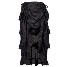 5160b8182 wholesale Spring Skirt Of Women Steampunk Gothic Ruffles Pirate Skirt For Ladies  2019 Fashion Women Skirt