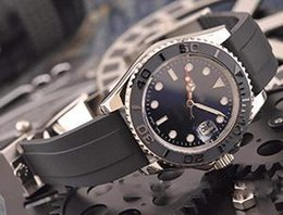 b24cfb182a4e AAAA2019 Caucho 40 mm Oro rosa Marca de lujo Reloj YACHT MASTER Movimiento  automático Mecánico Reloj