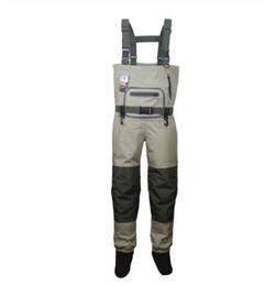 Venta al por mayor de Vadeadores de pesca para hombres Caza Cofre Vadeador al aire libre Ropa transpirable Pantalones para vadear Ropa impermeable Monos calcetines