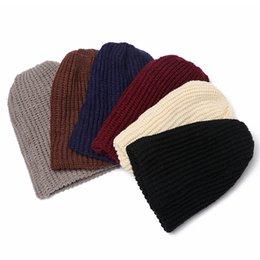 a01776e3e5ffb 1PC Unisex Chic Warm Winter Caps Fashion Men Women Solid Warm Winter Knit  Ski Beanie Skull Hat Slouchy Cap
