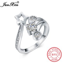 $enCountryForm.capitalKeyWord Australia - dhgate Newest 100% 925 Sterling Silver Women Opening Ring Star Shape Wedding Engagement Party Promise Zircon Ring Hot Sale