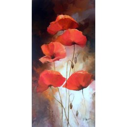 $enCountryForm.capitalKeyWord UK - Hand painted beautiful oil paintings Different poppys II flower artwork for living room decor