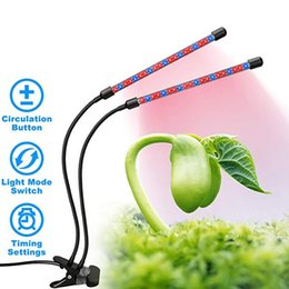 grow light strips UK - Plant Grow Light 18W 40LEDs Growing Lights Dual Head 3 Timing Modes Indoor Plants Growing Strip Light with Red Blue Spectrum Hydroponics
