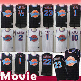 e211824560e Taz 1 3 Tweety Tune Squad Space Jam 1 Bugs Bunny Movie Jersey Men's Kid's  23 Michael 22 Bill Murray 10 Lola 2 D.DUCK Basketball Jerseys