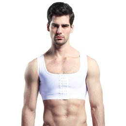 deac6b5439 LiberLiberty Men Control Vest Gynecomastia Compression Chest Body Shaper  Posture Corrector Corset Sleeveless Invisible Underwear