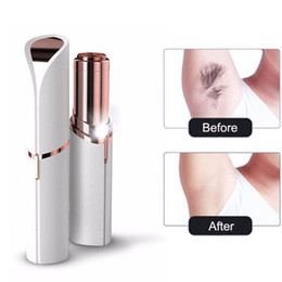 Wholesale Lady Mini Electric Shaver Female Body Hair Removal Razor Trimmer Painless Hair Remover Facial Body Depilator Lipstick Shaving Machine Tools
