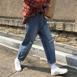 $enCountryForm.capitalKeyWord Canada - 2019 Spring And Summer New Listing Korean Version Of The Trend Of Casual Men's Hip Hop Straight Loose Pop Jeans Streetwear