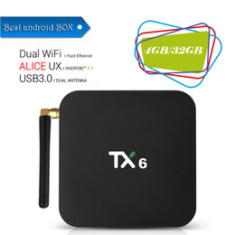 $enCountryForm.capitalKeyWord NZ - 1 PCS TX6 4GB RAM 32GB ROM Android 7.1 TV Box Allwinner H6 Quad Core Media Player 2.4G 5G Wifi Bluetooth 4.1 4K HD Smart Set Top Box