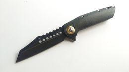 Best self defense knife online shopping - Perfect Custom Knife Warhound Flipper Vicissitudes D2 Steel Titanium Handle Tactical Folding Knives Best EDC Survival Tools