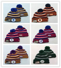 AmericAn footbAll hAts online shopping - Sideline Beanies Hats American Football teams Sports winter side line knit caps Beanie Knitted Hats drop shippping nb001