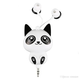$enCountryForm.capitalKeyWord UK - White Wired Cartoon Retractable In-Ear Earbud Earphones For Mobile Smart Phone PC Laptop Computer