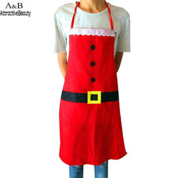 Cloth Materials Australia - Cooking easy Made Button for up material Button Kitchen of Restaurant Printed Apron Lace Waistband cloth wash Christmas