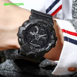 $enCountryForm.capitalKeyWord Australia - 2019 New SANDA Brand Sport Men's Watches Military LED Analog Digital Watch Men Waterproof Fashion Electronic Wristwatches 770 G Style Shock