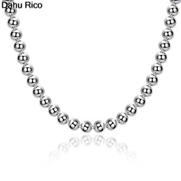 $enCountryForm.capitalKeyWord Australia - 8mm heart coracao corazon beads kralen 20 inches sphere pingente kettingen correntes chains silver color tu Dahu Rico necklaces