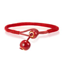 $enCountryForm.capitalKeyWord Australia - New Handmade Woven Red String Ceramic Beaded Pendant Bracelet Knitting Hand Rope Lovers Lucky Chain Bangles Ornaments Adjustable DIY Marking