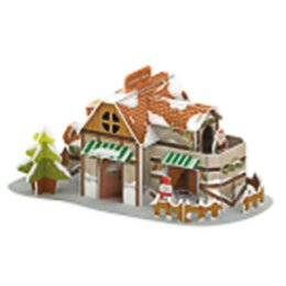 wood small houses Australia - Children Model Toy Christmas Small House Children Christmas Gift Christmas Ornaments