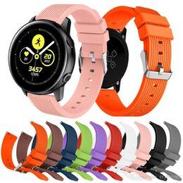 Striped Watch Straps NZ - Silicone Watchband for Samsung Galaxy Watch active 42mm Version Striped Rubber Replacement Bracelet Band 20mm Width Strap