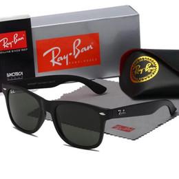 ae8cd36505 Calidad superior ray2140 wayfarer gafas de sol mate negro forma cuadrada  50mm diseñadores gafas de sol azul gris lentes de protección uv gafas de sol