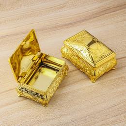 $enCountryForm.capitalKeyWord Australia - Mini Gold Plastic Storage Box Table Desk Sundries Organization Container Creative Candy Boxes for Wedding Party