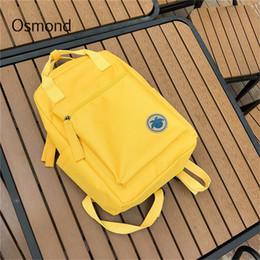 $enCountryForm.capitalKeyWord NZ - Osmond 2018 Women Yellow Back Packs Feminine Canvas Backpack For Teenager Girls Casual Travel Mochila Satchel School Bags Female J190528