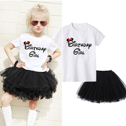 $enCountryForm.capitalKeyWord Australia - Birthday Girl & Princess Children Clothing 2019 Summer Girls Clothes T-shirt+Tutu Skirt Kids Sport Suit for Girls Clothing Sets