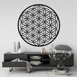 symbol decor 2019 - Flower Of Life Wall Art Sticker,Sacred Geometry BedRoom Decor Spiritual Symbol Removable Vinyl Decal Art Mural Home Deco
