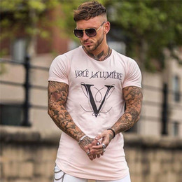 Wholesale engineering t shirt for sale – custom New Gyms Fitne Engineers Design Male Novelty Men letter print T shirt Fashion T shirt Men Casual Short Sleeves T shirt Men