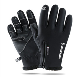 $enCountryForm.capitalKeyWord Australia - Outdoor waterproof gloves winter touch screen windproof thermal cycling for men and women refers to the zipper sport with fleece mountaineer