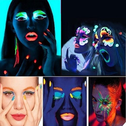 $enCountryForm.capitalKeyWord Australia - 20ml UV Glow Neon Face Body Paint Fluorescent Bright Fluo Irradiate luminescent Party Festival Decoration Party Makeup JIU55