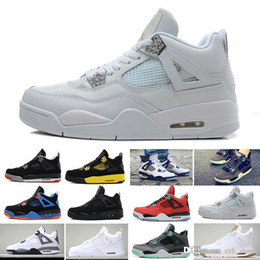 $enCountryForm.capitalKeyWord Australia - 2019 New Arrival Bred Pale Citron Tattoo 4 IV 4s men Basketball Shoes Pizzeria Singles Day Royalty Black cat mens trainers Sports Sneakers