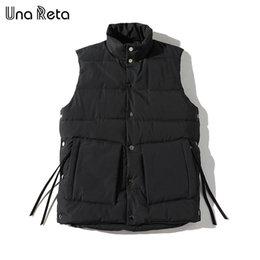 Slim Fit Sleeveless Jacket Australia - Una Reta Coat Mens New Winter Warm Hip Hop Sleeveless Jacket Men Slim Fit Vest Plus Size Casual Waistcoat C19041701