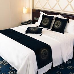 Black velvet sofa online shopping - Luxury European Velvet Head Hot Drilling Rhinestone Sofa Cushion Cover Home Hotel Bedroom Pillowcase Bed Runner