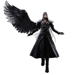 fantasy models NZ - 28cm Final Fantasy VII Sephiroth Action Figure Advent Children PLAY ARTS KAI games PVC action figure Movable model toys for boys
