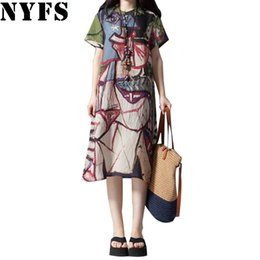 $enCountryForm.capitalKeyWord UK - 2019 New Summer dress Fashion Loose Comfortable plus size Printing short sleeve Cotton Linen women dress Irregular Vestidos Robe #394666