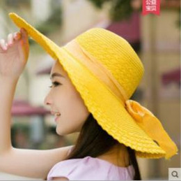 $enCountryForm.capitalKeyWord Australia - 2019 new best selling comfortable cool hat ladies Lafite straw hat Korea sunscreen beach female summer bow sunscreen big hat